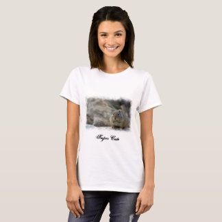 Super Cute Ground Squirrel White Border T-Shirt