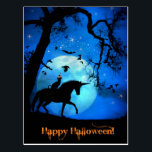 "Super Cute Happy Halloween Cat and Unicorn Postcard<br><div class=""desc"">A darling way to send Happy Halloween wishes,  this post card has a cat and a unicorn horse with a full moon.  Fun!</div>"