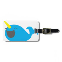 Super cute happy NARWHALE Bag Tag