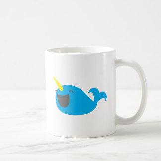 Super cute happy NARWHALE Mugs