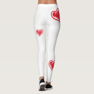 Super Cute Heart Leggings for Valentine's Day Run