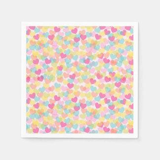 Super Cute Hearts Paper Napkin