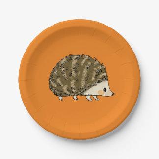 super cute hedgehog paper plate
