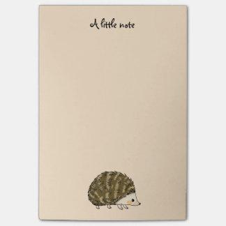 super cute hedgehog post-it notes