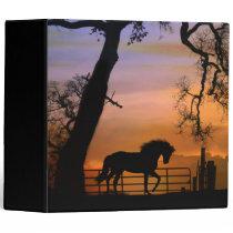 Super Cute Horse 3 Ring Binder Notebook