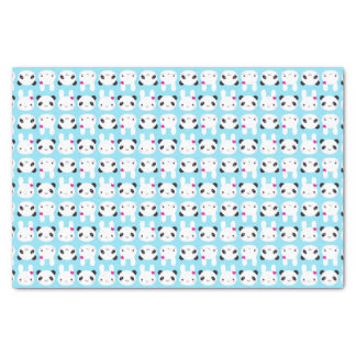 "Super Cute Kawaii Bunny and Panda 10"" X 15"" Tissue Paper"