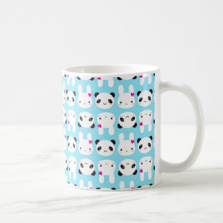 Super Cute Kawaii Bunny and Panda Coffee Mug
