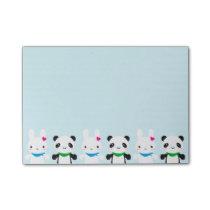 Super Cute Kawaii Bunny and Panda Post-it Notes