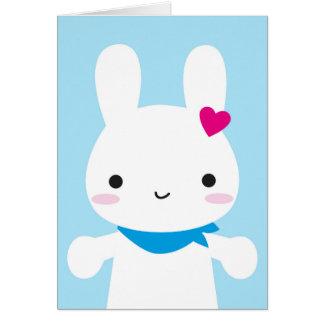 Super Cute Kawaii Bunny Card