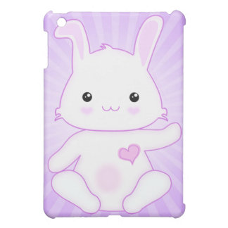 Super Cute Kawaii Bunny Rabbit in Lilac and White Case For The iPad Mini