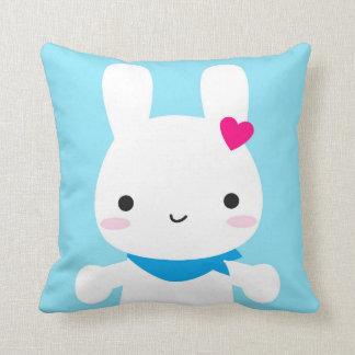 Super Cute Kawaii Bunny Throw Pillow