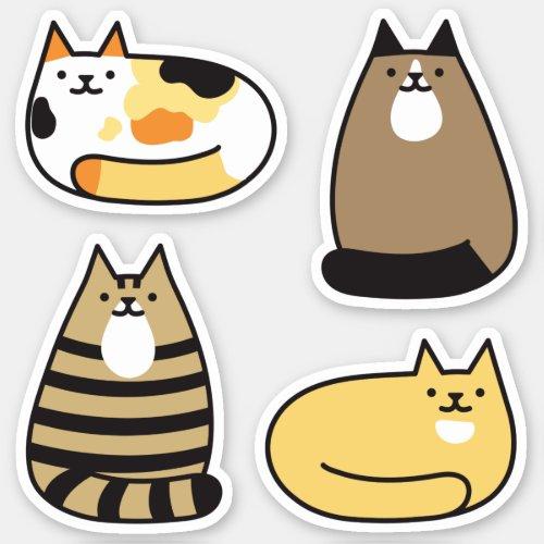 Super Cute Kawaii Cats Sticker