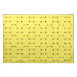 Super cute Kawaii face on yellow Placemat