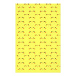 Super cute Kawaii face on yellow Stationery
