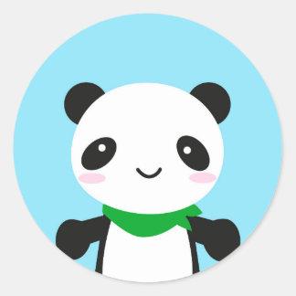 Super Cute Kawaii Panda Classic Round Sticker