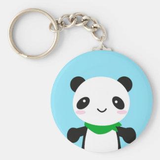 Super Cute Kawaii Panda Basic Round Button Keychain