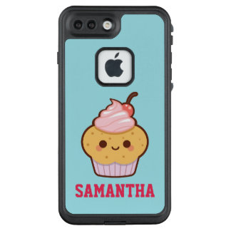 Super cute kawaii sweet cupcake add your name LifeProof FRĒ iPhone 7 plus case