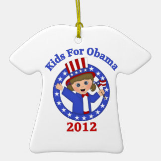 Super Cute Kids For Obama Tees and Gifts Ornaments