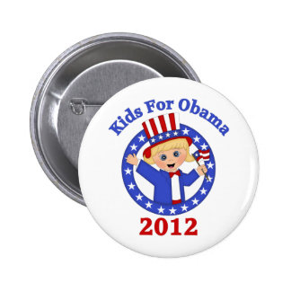 Super Cute Kids For Obama Tees and Gifts Pinback Button