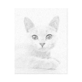 SUPER CUTE Kitten Cat Portrait Canvas Print