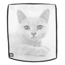 SUPER CUTE Kitten Portrait Backpack