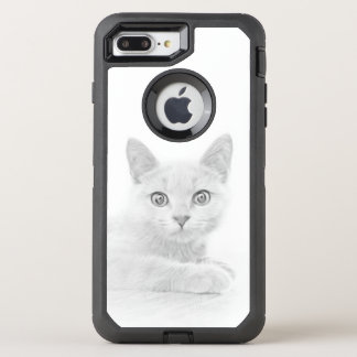 SUPER CUTE Kitten Portrait Scottish Fold Cat OtterBox Defender iPhone 7 Plus Case