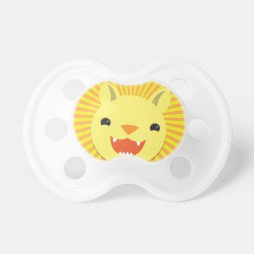 Super cute Lion face smiling! NP Pacifier