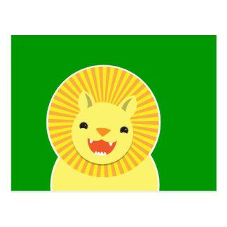 Super cute Lion face smiling! NP Post Cards