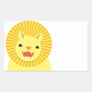 Super cute Lion face smiling! NP Rectangular Sticker