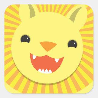 Super cute Lion face smiling! NP Square Sticker