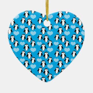 Super Cute little penguin pattern Ceramic Ornament