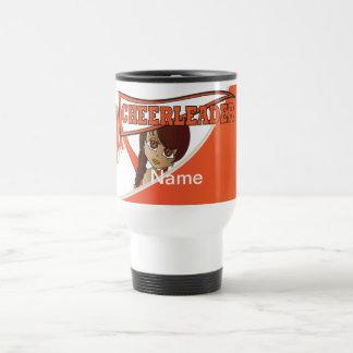 Super Cute Orange Cheerleader Girl Travel Mug
