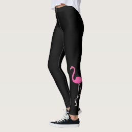 Super Cute Pink Flamingo Leggings