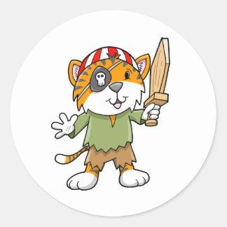 Super Cute Pirate Tiger Stickers