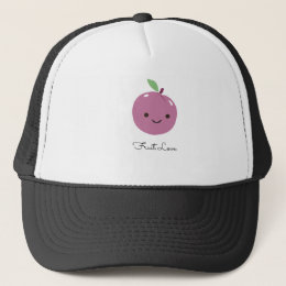 Super-Cute Plum Fruit Love Trucker Hat