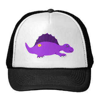 Super cute purple stegosaurus and flower t-shirt trucker hat
