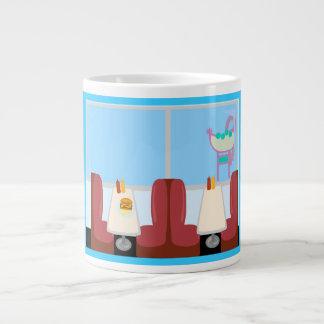 Super Cute Retro Fifties Diner Large Coffee Mug