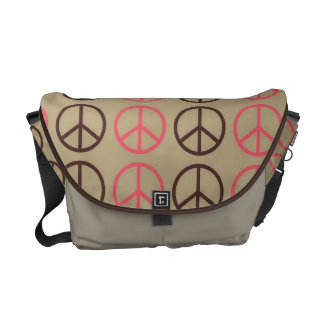 Super Cute Retro Peace Symbol Diaper bag