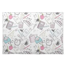 Super Cute School Supplies Pattern Placemat