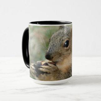 Super cute squirrel eating an acorn mug -animal