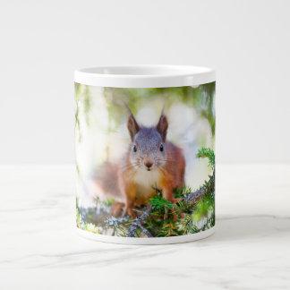 Super cute squirrel portrait giant coffee mug