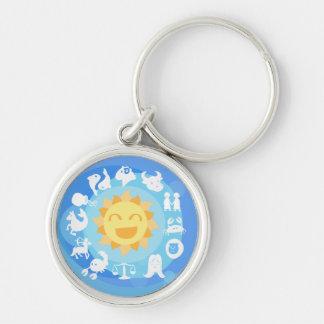 Super-Cute Sun Signs Zodiac Keychain