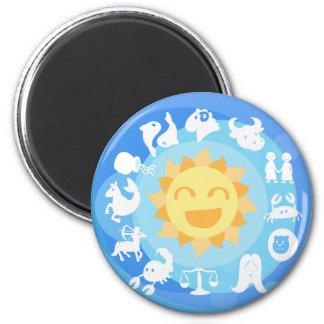 Super-Cute Sun Signs Zodiac Magnet