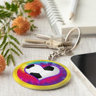 Super Cute Tie Dye Soccer Keychains in BULK