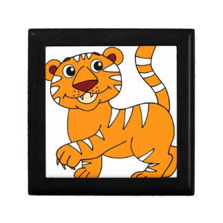 Super Cute Tiger Orange with White Stripes Jewelry Box