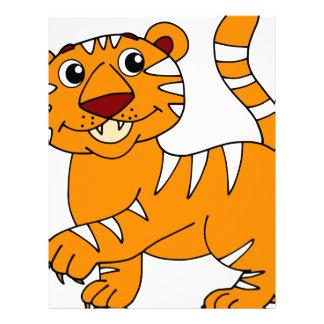 Super Cute Tiger Orange with White Stripes Letterhead