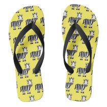 super cute zebra flip flops