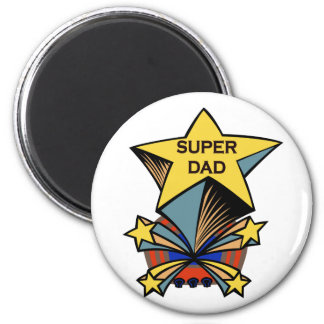Super Dad 2 Inch Round Magnet