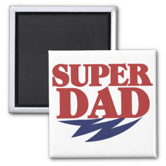 Super Dad 2 Inch Square Magnet