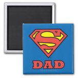 Super Dad 2 Inch Square Magnet